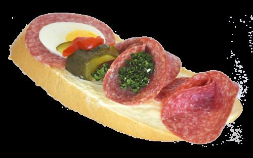 Chlebíček s trvanlivým salámem 110 g