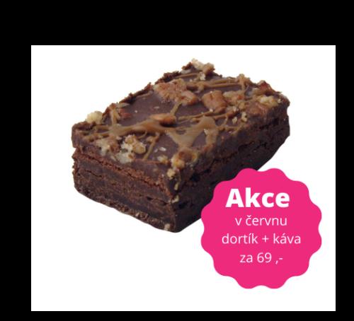Čokoládové brownie s pekanovými ořechy a karamelem 90 g